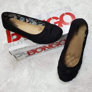 BONGO MELODY BLACK FLORAL EMBROIDERED SHOES!